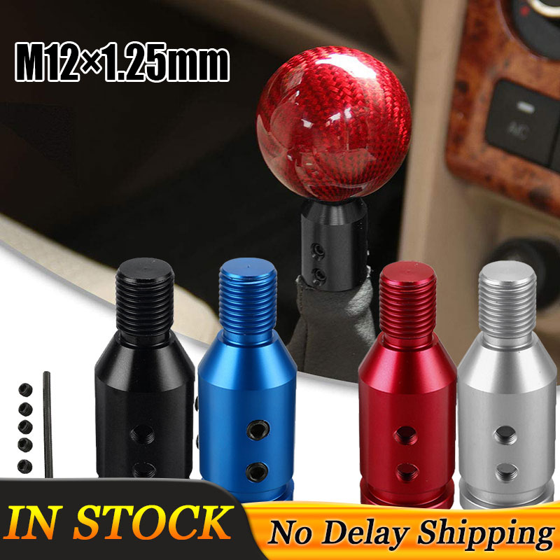 1 Set M12×1.25mm Universal Aluminum Gear Shift Knob Shifter Adapter For Non Threaded Shifters For BMW Mini 4 Colors(China)