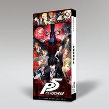 Persona 5 protagonista coringa ren amamiya ryuji sakamoto cartão postal cartões de postagem adesivo artbook brochura presente cosplay adereços livro conjunto