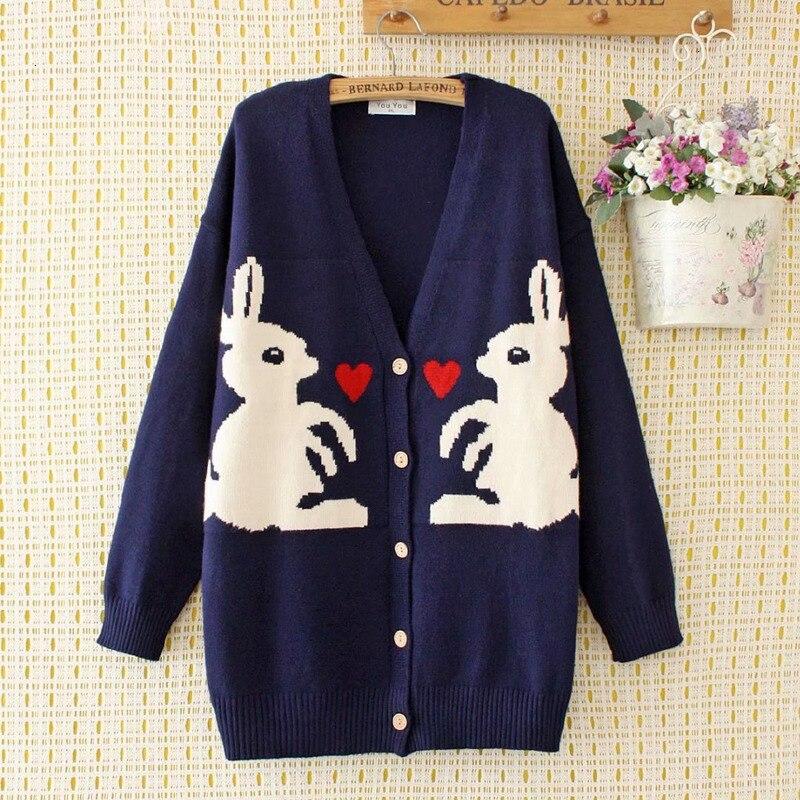 Plus Six Women V -neck Vest Rabbit Used Casual Runner Herfst Winter Tops