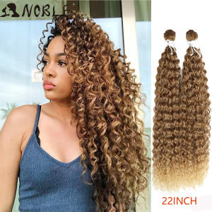 Kinky Curly Weave Bundles Hair-Extensions Synthetic-Hair Heat-Resistant Noble Weft