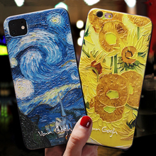 Art Black Phone Case For iphone 11 Pro Max 5 5s se Cover For
