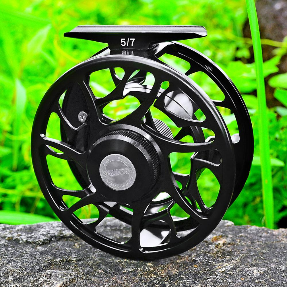 CNC Fly Reel Machine Reel Left-Right Handle Casting Full-Metal 9/10 Fly Fishing Reel Aluminum 3+1BB 5/7 WT Fishing Fly Wheel 7/9
