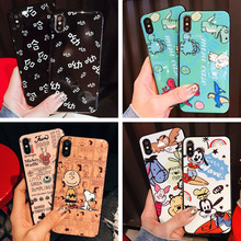 Creative cartoon glossy IMD silicone phone case for iPhone X XS XR XSMax 8 7 6 6S PluS drop protection cover