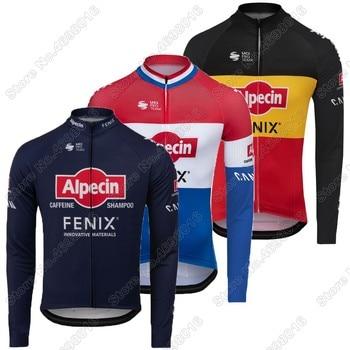 Alpecin Fenix-Camiseta de manga larga de ciclismo para hombre, ropa de ciclismo...