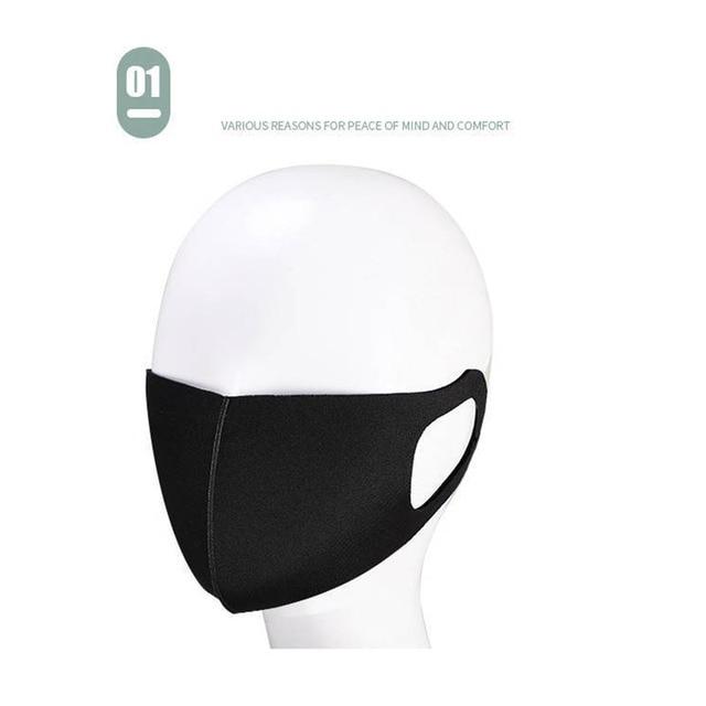 10pcs Unisex PM2.5 Mouth Mask Anti Haze Dust Mask Nose Filter Windproof Face Muffle Bacteria Flu Fabric Cloth Respirator 4