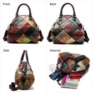 Image 3 - WESTAL damska torba 2020 torba na ramię dla kobiet prawdziwej skóry luksusowe torebki damskie torebki projektant kwiatowy skórzana torebka damska