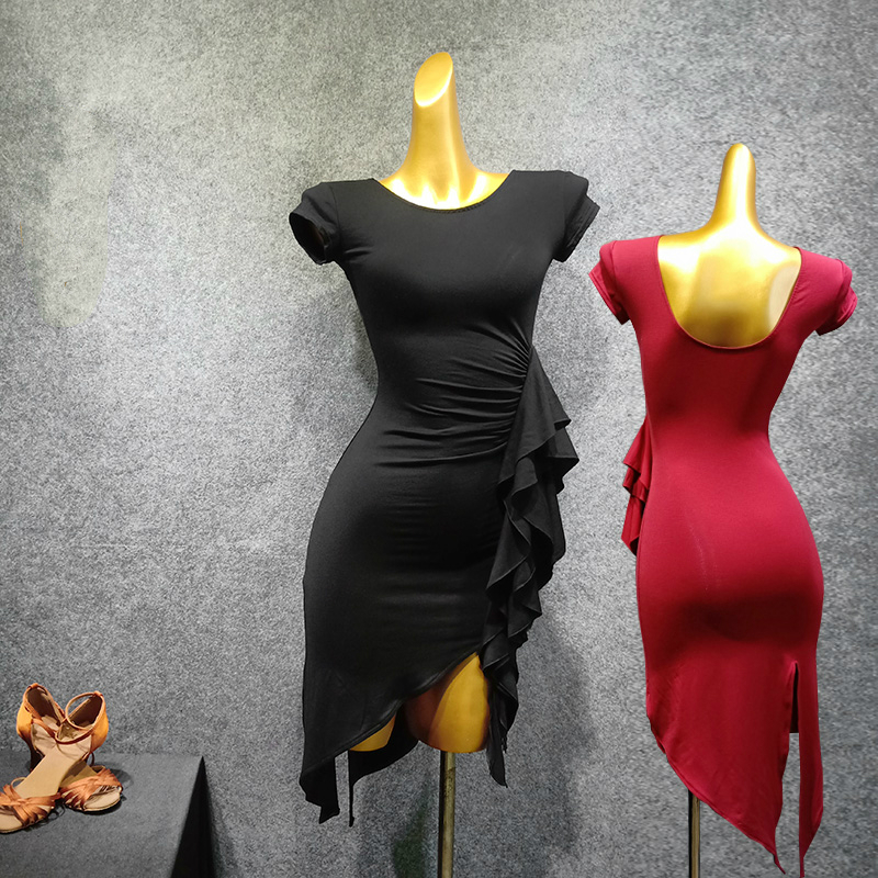 Latin Dance Clothes Female Adult New Dress Dance Practice Clothes Latin Dance Ballroom Dance Dresses Competition Dresses