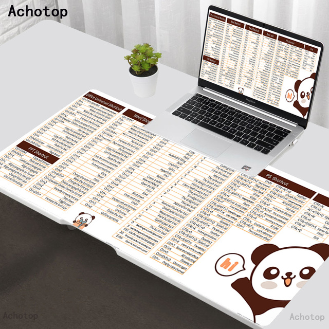 desk PS PPT office software shortcut key Hot Sell Extra Large Mouse Pad Gaming Mousepad XXL Rubber Gaming Mouse Mat tappetino