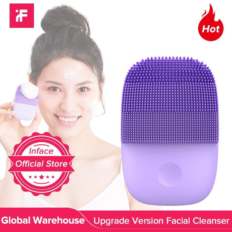 Inface обновленная версия щетка для очищения лица электрическая звуковая щетка для лица глубокое очищение водонепроницаемый инструментУстройства для чистки лица   -