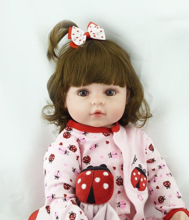60cm muito grande 6-9month reborn tollder boneca realista bebê recém-nascido bonecas bebe criança brinquedo menina silicone renascer boneca