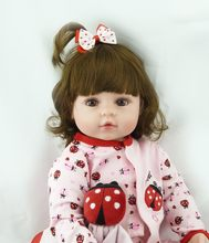 60cm very big 6-9Month reborn tollder doll Lifelike newborn Baby Bonecas Bebe kid toy girl silicone reborn baby doll