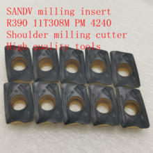20PCS R0.8 SANDV high quality milling insert R390 11T308M PM 4240 carbide tool, shoulder cutter CNC tool