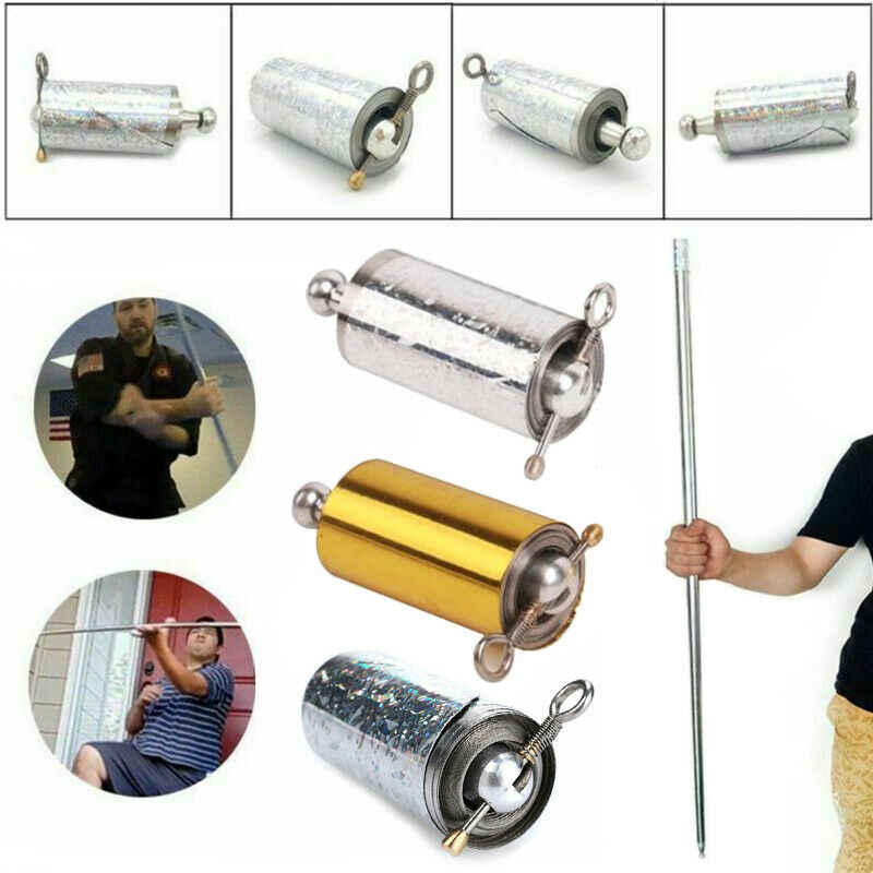 Stainless Steel Pocket Self-defense Telescopic Stick Portable Martial Arts 1Pcs