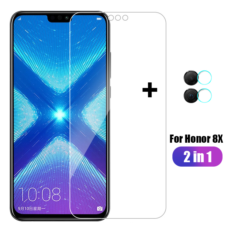 2 in 1 For Huawei <font><b>Honor</b></font> <font><b>8X</b></font> <font><b>Tempered</b></font> <font><b>Glass</b></font> Screen Protector+Camera lens Soft Film For Huawei <font><b>Honor</b></font> <font><b>8X</b></font> JSN L22 L21 Protective Film image