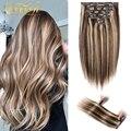 Doreen 280 г натуральные волосы на клипсе, волосы Remy для наращивания на всю голову, для коротких волос