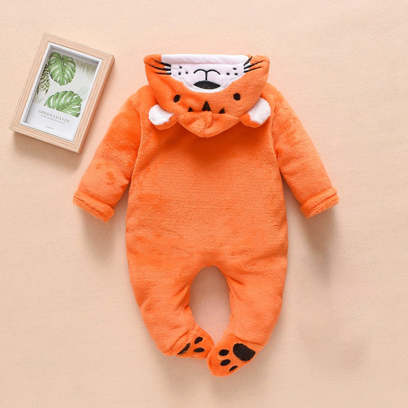 0-12 Months Autumn Baby Clothes Baby Boys Girls Winter Cute Cartoon Design Hoodie Romper Bodysuit Casual Long Sleeve Outerwear