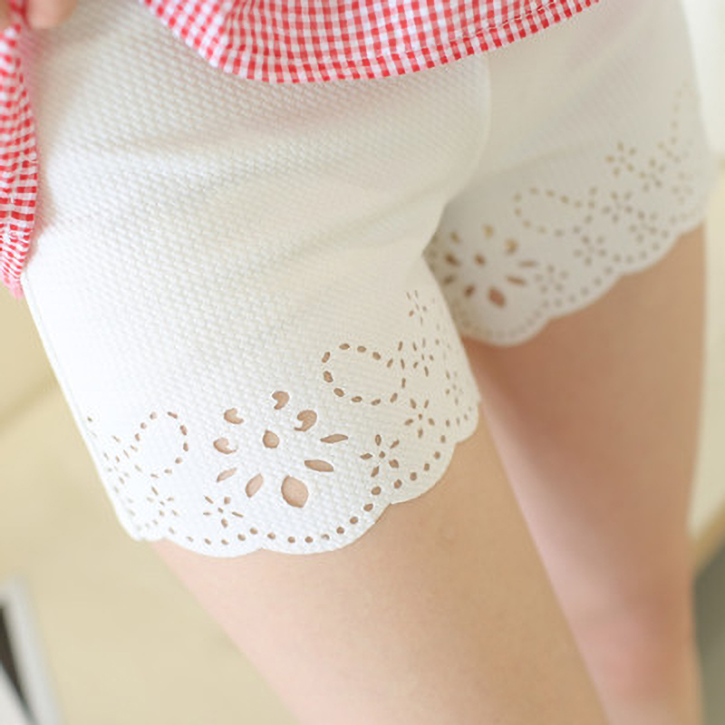 2019 Seamless Safety Short Middle Waist Women Safety Shorts Pants Casual Lace Solid Stretchy Underwear Prevent Leg Thigh Chafing