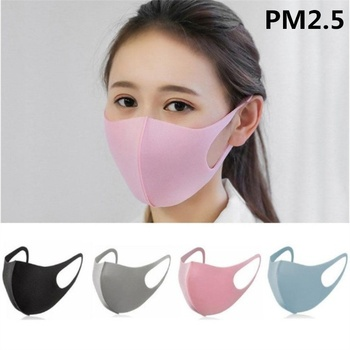 Washable Anti-PM 2.5 Mouth Mask for Adult/Kids Outdoor Protective Mask Anti-flu Filter Respirator
