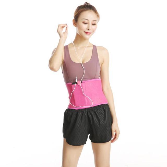 Pocket Fitness Waist Belt Exercise Neoprene Weight Loss Sweat Waistband Slimming Adjustable Gym Training Abdomen Lumbar Support 4