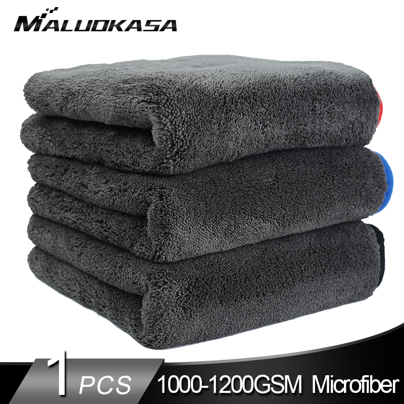 Car Wash 1200GSM Car Detailing Microfiber Towel Car Cleaning Drying Cloth Thick Car Washing Rag for Cars Kitchen Car Care Cloth(China)