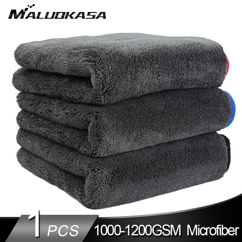 Lavagem de carro 1200gsm carro detalhando microfibra toalha de limpeza de carro pano de secagem grosso lavagem de carro pano para carros cozinha cuidados com o carro pano absorvente