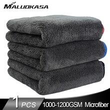 Myjnia samochodowa 1200GSM detale samochodów ręcznik z mikrofibry ściereczki do czyszczenia osuszania samochodu gruba myjnia samochodowa szmata do samochodów kuchnia szmatka do pielęgnacji samochodu