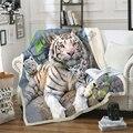 Плюшевое Флисовое одеяло с 3D принтом тигра, модные одеяла для взрослых, для дома и офиса, моющееся одеяло, повседневное детское одеяло шерпа ...