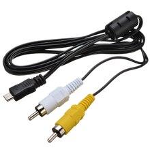 1,5 м новые кабели Micro USB папа к 2 RCA желтые белые AV адаптер Аудио Видео кабель Шнур для устройства с поддержкой MHL