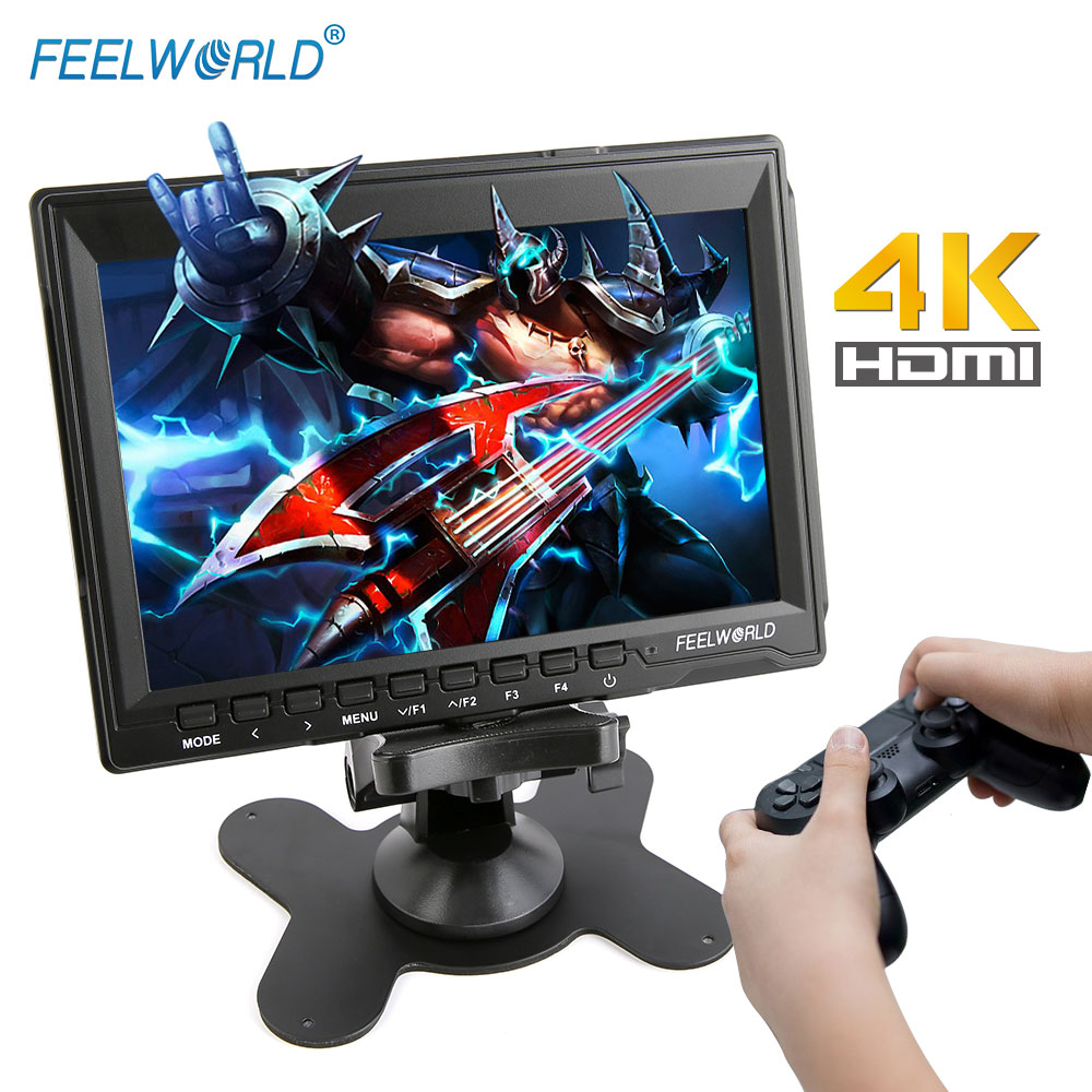 FEELWORLD Portable LCD HD Gaming Monitor IPS HD Screen Display 4K HDMI Game Monitors for XBOX ONE PS3 PS4 Switch Laptop Camera image