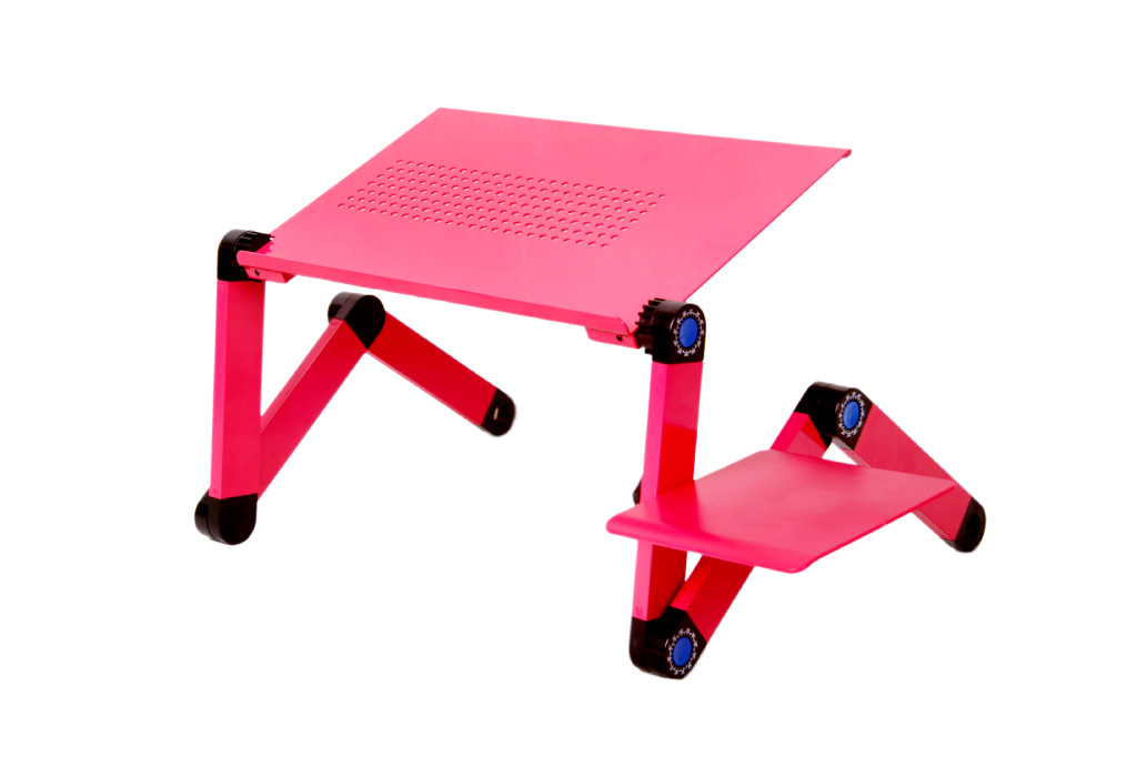 Easy To Force Aluminum Laptop Computer Table Folding Computer Desk Portable Laptop Desk Bed Table