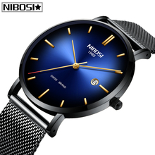 Relogio Masculino NIBOSI Fashion Mens Watches Top Brand Luxury Ultra Thin Mesh Belt Men Quartz Watch Waterproof Casual Men Watch все цены