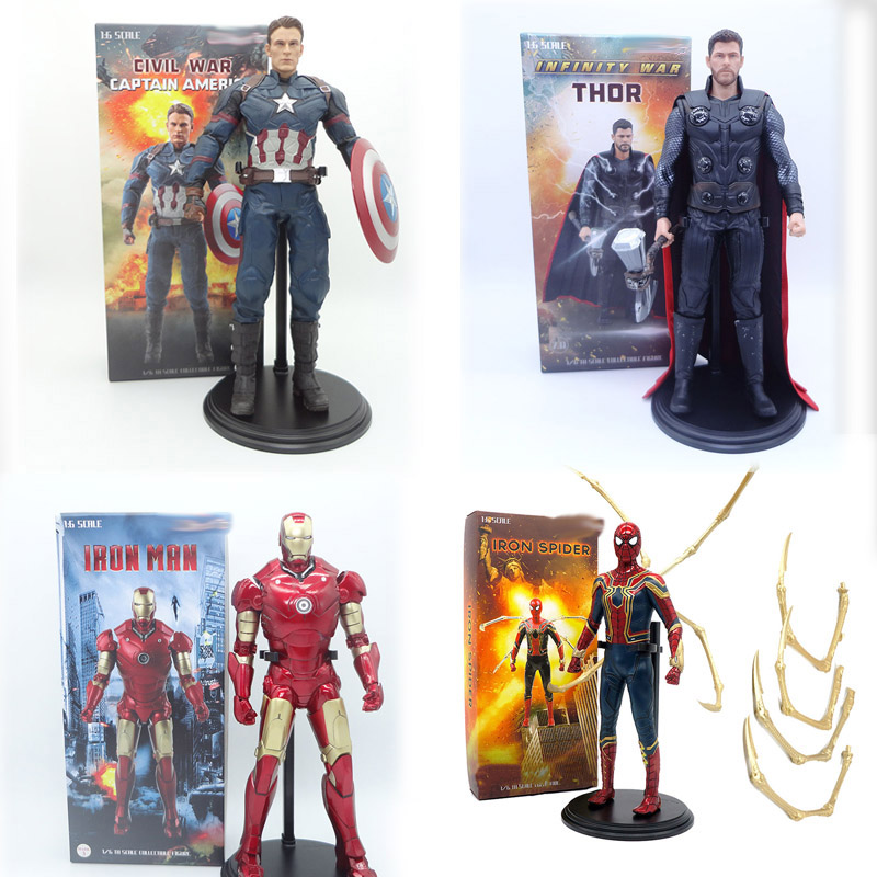 Captain America Civil War Captain America Iron Spider Man Spiderman Thor Action Figure Model Toys Doll Aliexpress Com Imall Com