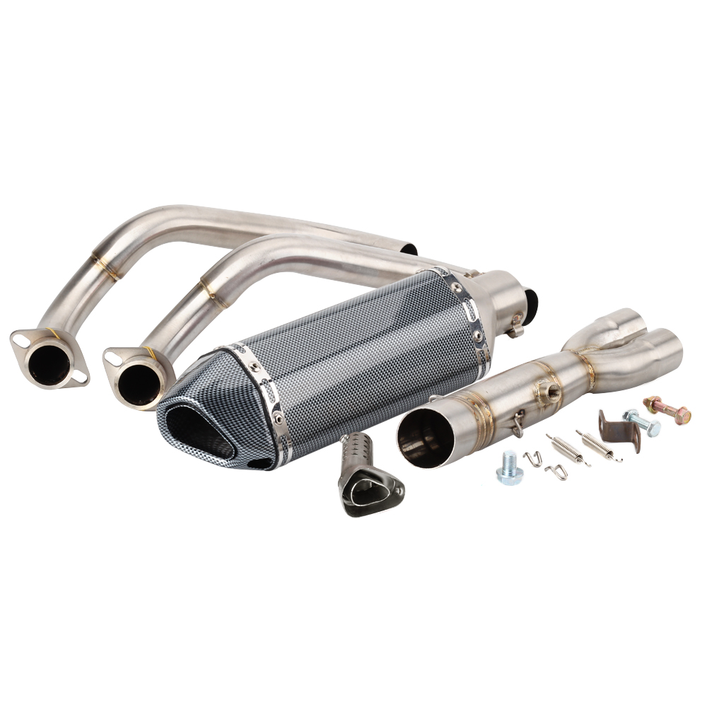 XSR 700 Motorcycle Akrapovic Exhaust And Link Pipe For Yamaha XSR700 2016 2017 2018 2019 XTribute Escape Slip-on
