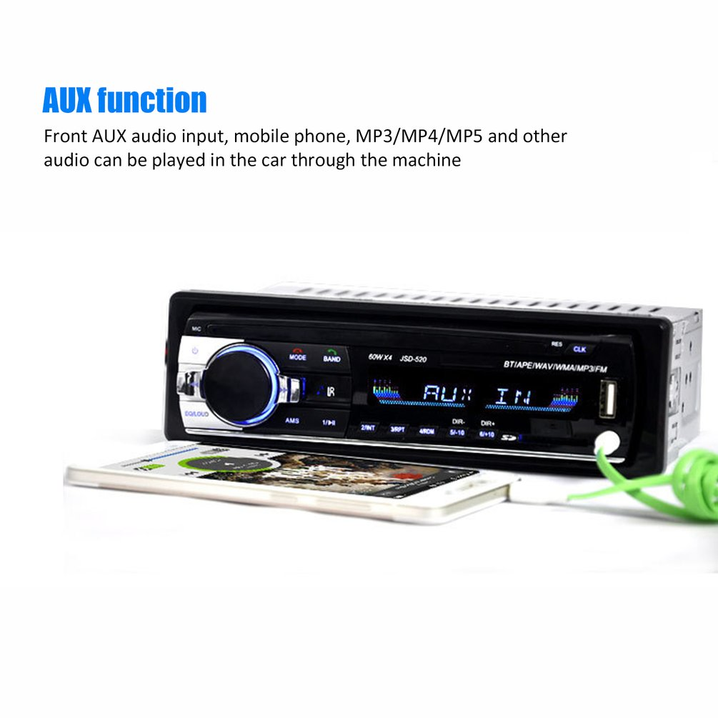 12V universal Car MP3 Car Stereo FM AUX Input Receiver SD USB MP3 Radio Player In-Dash Unit image