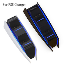 Dual Fast Charger Gamepad USB Dual Charging Cradle Gamepad Station for Sony PS5 Wireless Gaming Controller Joystick Charger