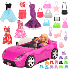 Newest high quality handmade doll toys accessories dresses clothe car toy for barbie dolls best DIY birthday gift for girl