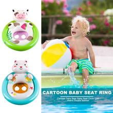 Safe Inflatable Baby Swimming Pool Seat PVC Water Sports Bathing Circle Wheel Cartoon Safety Double Balloon Toys