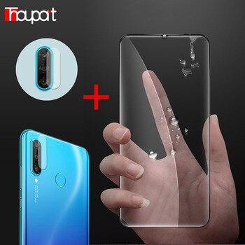 Перейти на Алиэкспресс и купить Honor 20 Lite 20s 6.15 пленка для стекла + объектива Защитная пленка для экрана на Huawei P30 Lite Новое издание Закаленное стекло P30LITE 2020