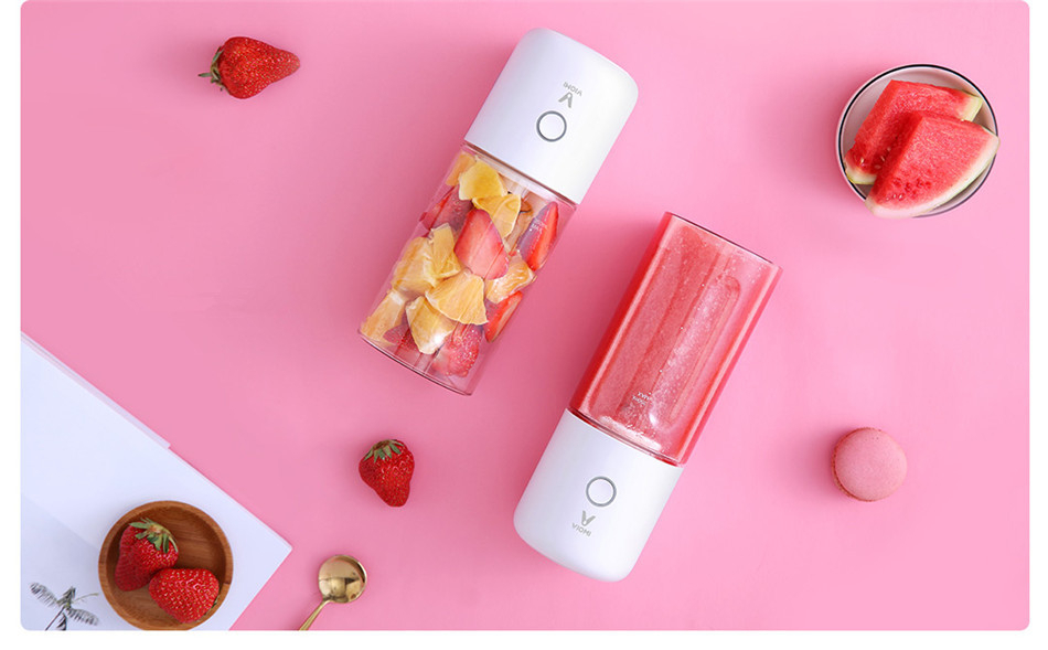 H4ac181cf5a794123aa39f70c679e9580M Xiaomi VIOMI 350ml Electric Juicer Portable Electric Juicer Cup 2000mAh Battery Type-C Rechargeable Blender Jucing Machine