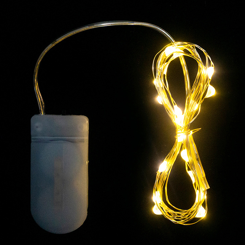 2M / 3M Battery Powered LED silver / copper string fairy lights for DIY Christmas festival wedding party home show decoration