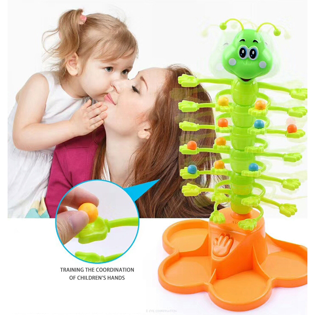Electric Rocking Worms Fun Interactive Interactive Board Game For Children Funny Multiplayer Battle Electric Toys L0219