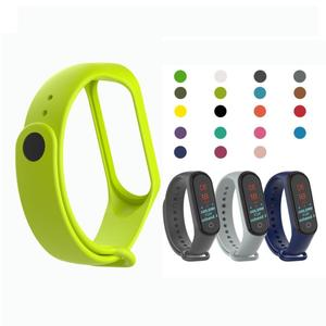 Fashion For Xiaomi Mi Band 4 / 3 Replacement Strap Sport Silicone Strap Wristband Bracelet Two-Tone Replacement Strap