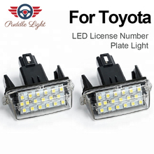 LED Number Car License Plate Light Lamp for Toyota Corolla Camry Avensis Prius C Ractis Vitz Yaris Levin Vios Esquire Noah SAI 2pcs for toyota yaris camry corolla prius ractis verso led number license plate car driving rear lights kit car styling page 3 page 1