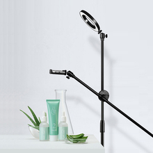 Dimmable Beauty LED Fill Light Ring Lamp Adjustable Phone Photography Shooting Bracket Stand Boom Arm Photo Video Studio Kits