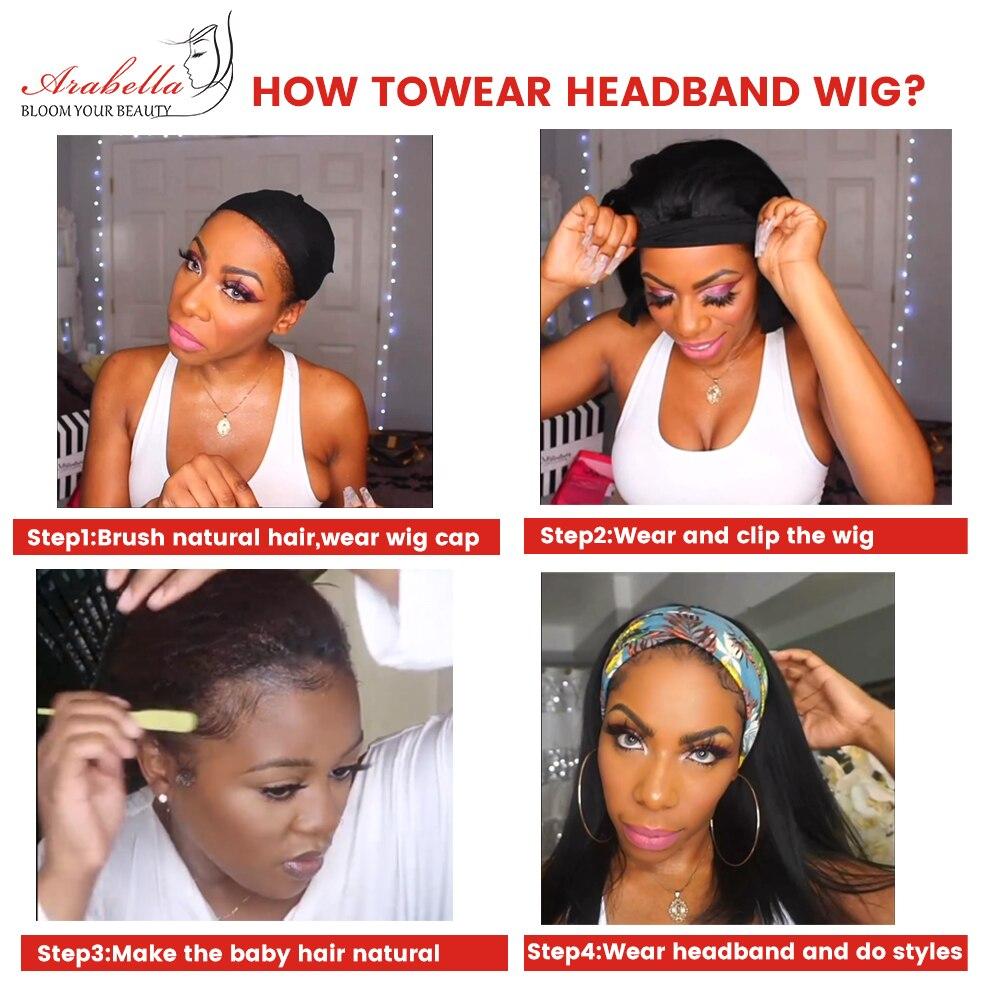 Water Wave U Part Wig   Headband Wig  ARABELLA Hair Glueless Wig Headband Wig  4