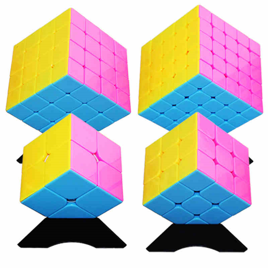 New Magic Cube Professional PVC Matte Stickers Educativo Cubo Magico Puzzle Speed Classic Toys Learning Education Toy EE50MF(China)