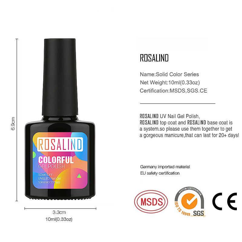 Rosalind Gel Nagellak Verse Kleur Semi Permanente Uv Soak Off Gel Vernis Witte Manicure Nail Art Hybrid Nagels Gel polish