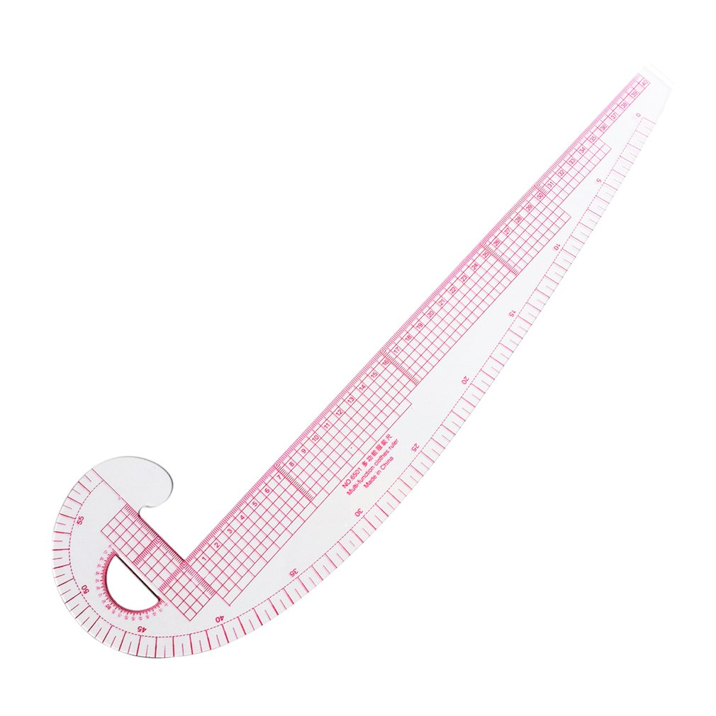 Multi-function Plastic French Curve Sewing Ruler Tailor Ruler Design Making Clothing 360 Degree Bend Ruler Measure Tools