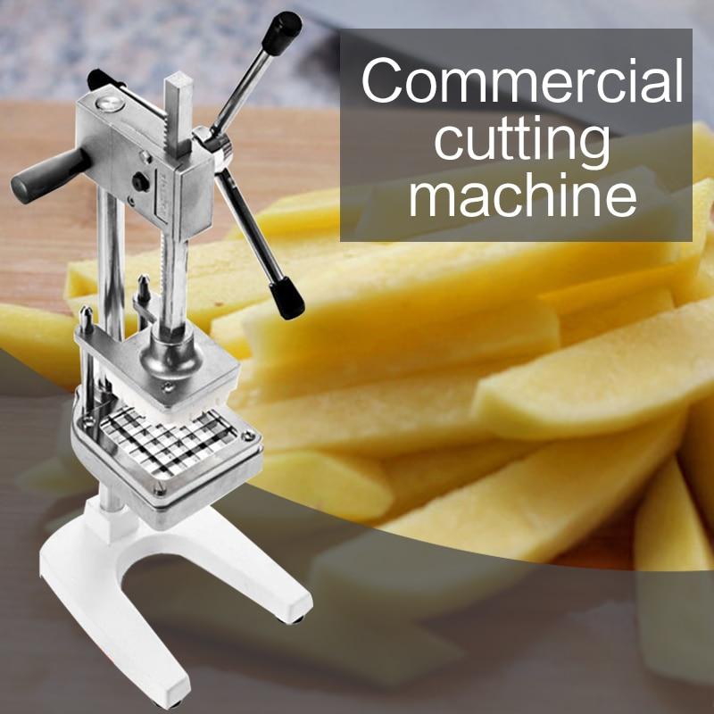 Вертикальная ручная машина для резки картофеля фри коммерческая машина для резки нержавеющей стали редиска огуречное устройство