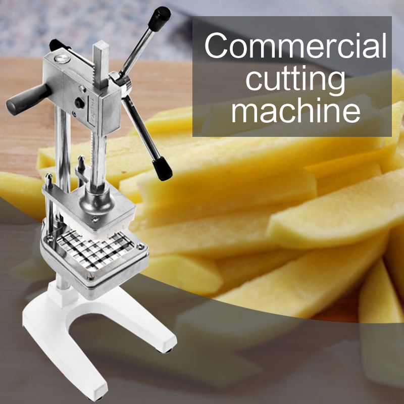 Vertical Manual Cutting Fries Machine Commercial Stainless Steel Cutting Machine Radish Cucumber Cutting Device